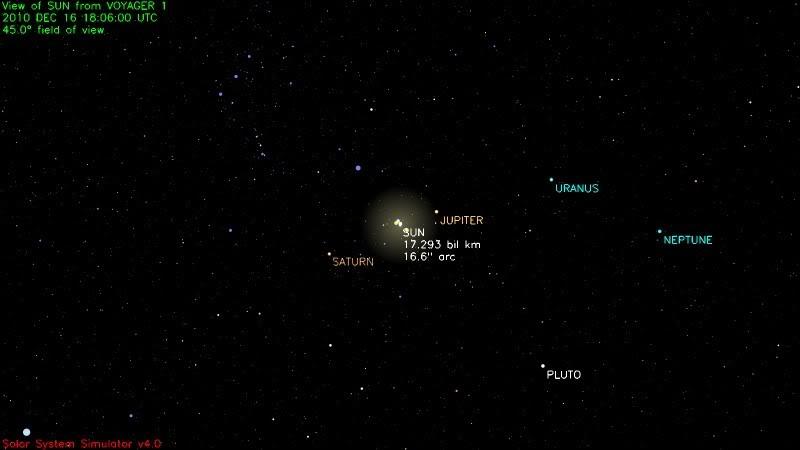 poza voyager1 sistemul solar