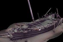 model foto nava romana in marea neagra