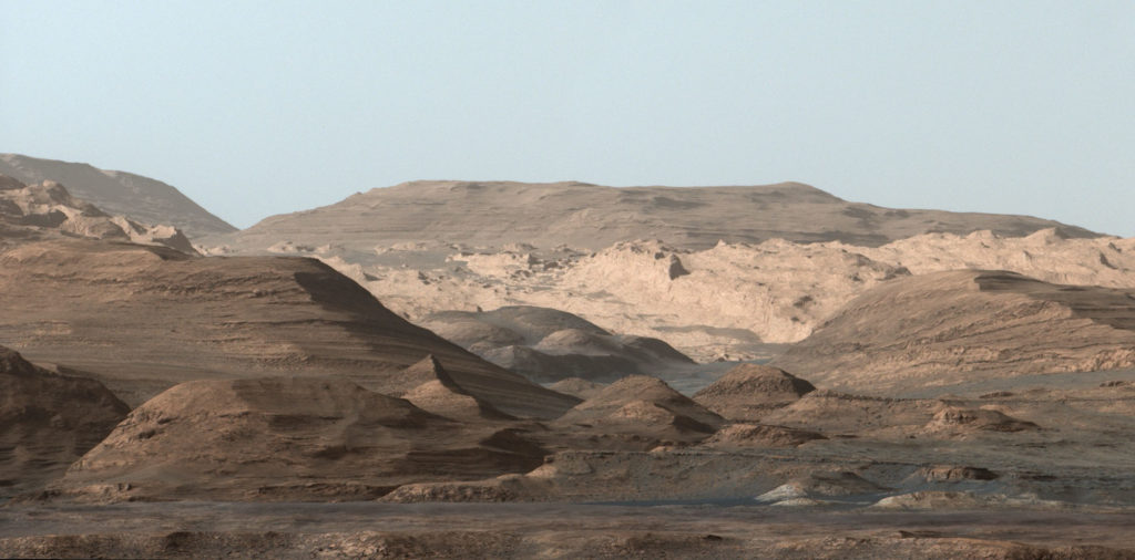 Muntele Sharp- Poza realizata de Curiosity